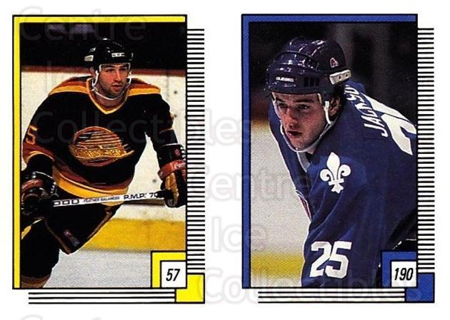 1988-89 O-pee-chee Stickers #057-190 Rich Sutter, Jeff Jackson<br/>10 In Stock - $2.00 each - <a href=https://centericecollectibles.foxycart.com/cart?name=1988-89%20O-pee-chee%20Stickers%20%23057-190%20Rich%20Sutter,%20Je...&quantity_max=10&price=$2.00&code=248559 class=foxycart> Buy it now! </a>