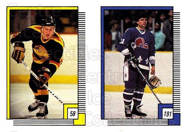 1988-89 O-pee-chee Stickers #058-191 Jim Benning, Mike Eagles<br/>11 In Stock - $2.00 each - <a href=https://centericecollectibles.foxycart.com/cart?name=1988-89%20O-pee-chee%20Stickers%20%23058-191%20Jim%20Benning,%20Mi...&quantity_max=11&price=$2.00&code=248560 class=foxycart> Buy it now! </a>