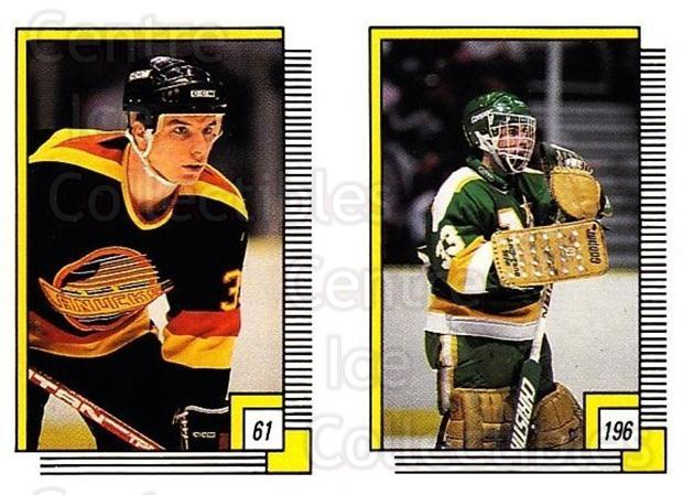 1988-89 O-pee-chee Stickers #061-196 David Saunders, Don Beaupre<br/>8 In Stock - $2.00 each - <a href=https://centericecollectibles.foxycart.com/cart?name=1988-89%20O-pee-chee%20Stickers%20%23061-196%20David%20Saunders,...&quantity_max=8&price=$2.00&code=248563 class=foxycart> Buy it now! </a>