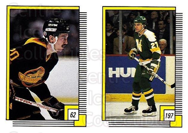 1988-89 O-pee-chee Stickers #062-197 Steve Tambellini, Brian MacLellan<br/>11 In Stock - $2.00 each - <a href=https://centericecollectibles.foxycart.com/cart?name=1988-89%20O-pee-chee%20Stickers%20%23062-197%20Steve%20Tambellin...&quantity_max=11&price=$2.00&code=248564 class=foxycart> Buy it now! </a>