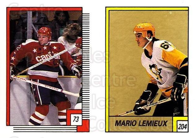 1988-89 O-pee-chee Stickers #073-204 Dale Hunter, Mario Lemieux<br/>3 In Stock - $3.00 each - <a href=https://centericecollectibles.foxycart.com/cart?name=1988-89%20O-pee-chee%20Stickers%20%23073-204%20Dale%20Hunter,%20Ma...&quantity_max=3&price=$3.00&code=248575 class=foxycart> Buy it now! </a>
