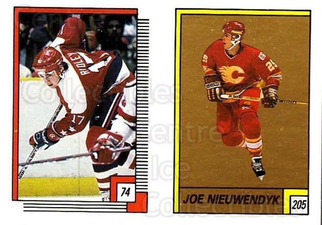 1988-89 O-pee-chee Stickers #074-205 Mike Ridley, Joe Nieuwendyk, Jeff Sharples<br/>9 In Stock - $2.00 each - <a href=https://centericecollectibles.foxycart.com/cart?name=1988-89%20O-pee-chee%20Stickers%20%23074-205%20Mike%20Ridley,%20Jo...&quantity_max=9&price=$2.00&code=248576 class=foxycart> Buy it now! </a>