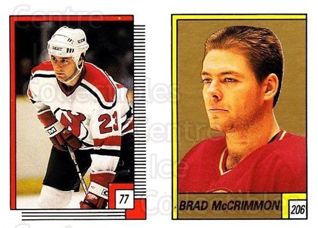 1988-89 O-pee-chee Stickers #077-206 Bruce Driver, Brad McCrimmon<br/>10 In Stock - $2.00 each - <a href=https://centericecollectibles.foxycart.com/cart?name=1988-89%20O-pee-chee%20Stickers%20%23077-206%20Bruce%20Driver,%20B...&quantity_max=10&price=$2.00&code=248579 class=foxycart> Buy it now! </a>