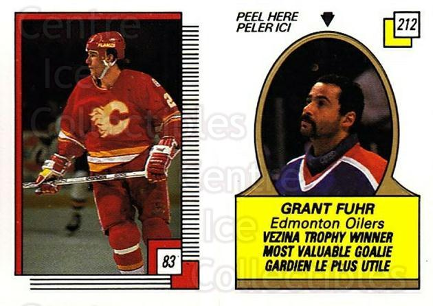 1988-89 O-pee-chee Stickers #083-212 Joel Otto, Grant Fuhr<br/>6 In Stock - $2.00 each - <a href=https://centericecollectibles.foxycart.com/cart?name=1988-89%20O-pee-chee%20Stickers%20%23083-212%20Joel%20Otto,%20Gran...&quantity_max=6&price=$2.00&code=248585 class=foxycart> Buy it now! </a>