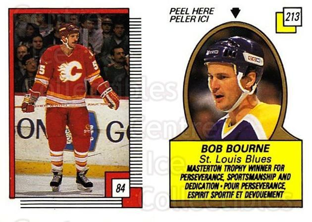 1988-89 O-pee-chee Stickers #084-213 Rob Ramage, Bob Bourne<br/>11 In Stock - $2.00 each - <a href=https://centericecollectibles.foxycart.com/cart?name=1988-89%20O-pee-chee%20Stickers%20%23084-213%20Rob%20Ramage,%20Bob...&quantity_max=11&price=$2.00&code=248586 class=foxycart> Buy it now! </a>