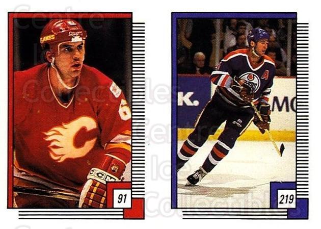 1988-89 O-pee-chee Stickers #091-219 Ric Nattress, Kevin Lowe<br/>10 In Stock - $2.00 each - <a href=https://centericecollectibles.foxycart.com/cart?name=1988-89%20O-pee-chee%20Stickers%20%23091-219%20Ric%20Nattress,%20K...&quantity_max=10&price=$2.00&code=248592 class=foxycart> Buy it now! </a>