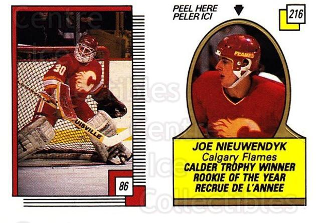 1988-89 O-pee-chee Stickers #086-216 Mike Vernon, Joe Nieuwendyk<br/>11 In Stock - $2.00 each - <a href=https://centericecollectibles.foxycart.com/cart?name=1988-89%20O-pee-chee%20Stickers%20%23086-216%20Mike%20Vernon,%20Jo...&quantity_max=11&price=$2.00&code=248603 class=foxycart> Buy it now! </a>