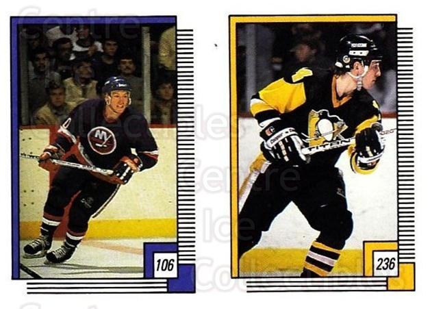 1988-89 O-pee-chee Stickers #106-236 Alan Kerr, Dan Quinn<br/>11 In Stock - $2.00 each - <a href=https://centericecollectibles.foxycart.com/cart?name=1988-89%20O-pee-chee%20Stickers%20%23106-236%20Alan%20Kerr,%20Dan%20...&quantity_max=11&price=$2.00&code=248608 class=foxycart> Buy it now! </a>