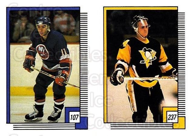 1988-89 O-pee-chee Stickers #107-237 Randy Wood, Rob Brown<br/>11 In Stock - $2.00 each - <a href=https://centericecollectibles.foxycart.com/cart?name=1988-89%20O-pee-chee%20Stickers%20%23107-237%20Randy%20Wood,%20Rob...&quantity_max=11&price=$2.00&code=248609 class=foxycart> Buy it now! </a>