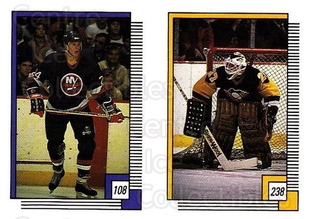 1988-89 O-pee-chee Stickers #108-238 Mikko Makela, Gilles Meloche, Iain Duncan<br/>5 In Stock - $2.00 each - <a href=https://centericecollectibles.foxycart.com/cart?name=1988-89%20O-pee-chee%20Stickers%20%23108-238%20Mikko%20Makela,%20G...&quantity_max=5&price=$2.00&code=248610 class=foxycart> Buy it now! </a>