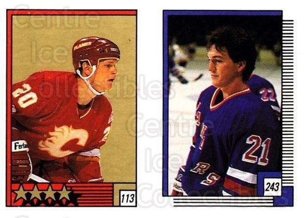1988-89 O-pee-chee Stickers #113-243 Gary Suter, David Shaw<br/>10 In Stock - $2.00 each - <a href=https://centericecollectibles.foxycart.com/cart?name=1988-89%20O-pee-chee%20Stickers%20%23113-243%20Gary%20Suter,%20Dav...&quantity_max=10&price=$2.00&code=248615 class=foxycart> Buy it now! </a>