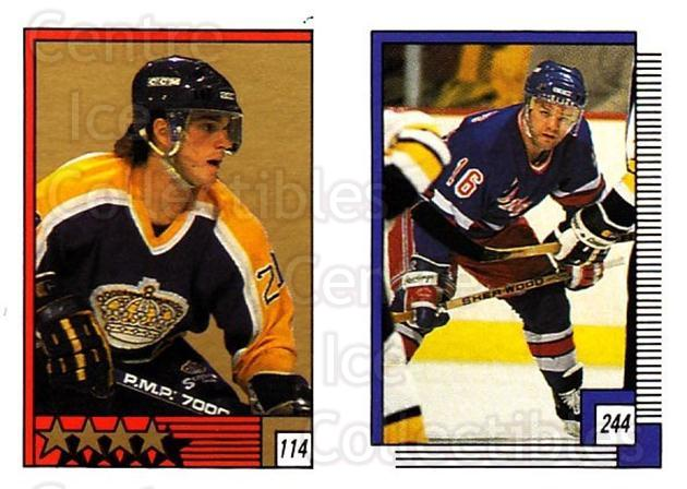 1988-89 O-pee-chee Stickers #114-244 Luc Robitaille, Marcel Dionne<br/>8 In Stock - $2.00 each - <a href=https://centericecollectibles.foxycart.com/cart?name=1988-89%20O-pee-chee%20Stickers%20%23114-244%20Luc%20Robitaille,...&quantity_max=8&price=$2.00&code=248616 class=foxycart> Buy it now! </a>