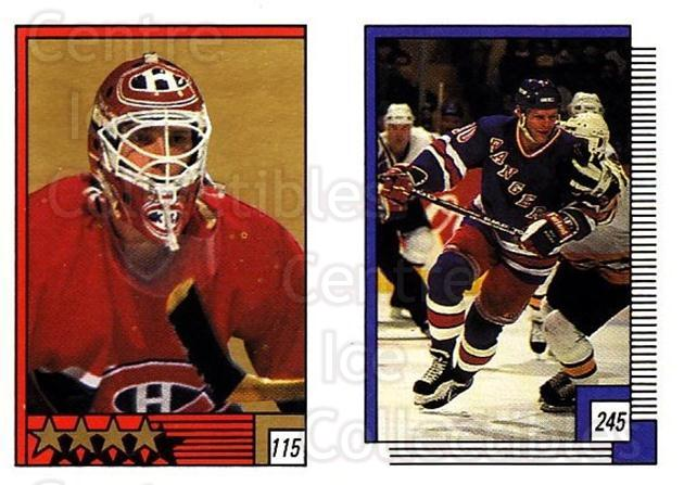 1988-89 O-pee-chee Stickers #115-245 Patrick Roy, Chris Nilan<br/>2 In Stock - $5.00 each - <a href=https://centericecollectibles.foxycart.com/cart?name=1988-89%20O-pee-chee%20Stickers%20%23115-245%20Patrick%20Roy,%20Ch...&quantity_max=2&price=$5.00&code=248617 class=foxycart> Buy it now! </a>