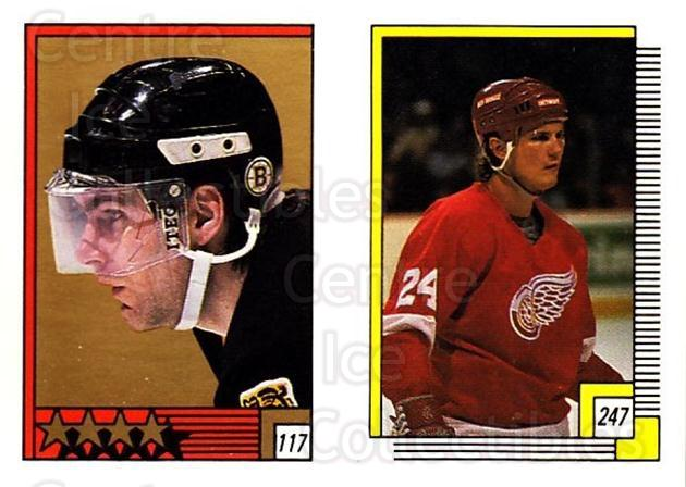 1988-89 O-pee-chee Stickers #117-247 Ray Bourque, Bob Probert<br/>3 In Stock - $2.00 each - <a href=https://centericecollectibles.foxycart.com/cart?name=1988-89%20O-pee-chee%20Stickers%20%23117-247%20Ray%20Bourque,%20Bo...&quantity_max=3&price=$2.00&code=248619 class=foxycart> Buy it now! </a>