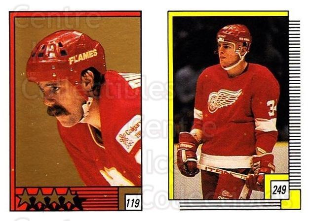 1988-89 O-pee-chee Stickers #119-249 Mike Bullard, Jeff Sharples<br/>9 In Stock - $2.00 each - <a href=https://centericecollectibles.foxycart.com/cart?name=1988-89%20O-pee-chee%20Stickers%20%23119-249%20Mike%20Bullard,%20J...&quantity_max=9&price=$2.00&code=248621 class=foxycart> Buy it now! </a>