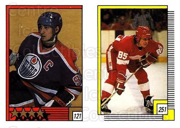1988-89 O-pee-chee Stickers #121-251 Wayne Gretzky, Petr Klima<br/>2 In Stock - $5.00 each - <a href=https://centericecollectibles.foxycart.com/cart?name=1988-89%20O-pee-chee%20Stickers%20%23121-251%20Wayne%20Gretzky,%20...&quantity_max=2&price=$5.00&code=248623 class=foxycart> Buy it now! </a>