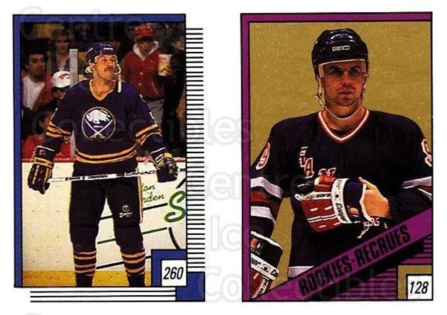 1988-89 O-pee-chee Stickers #128-260 Ulf Dahlen, Mike Ramsey<br/>9 In Stock - $2.00 each - <a href=https://centericecollectibles.foxycart.com/cart?name=1988-89%20O-pee-chee%20Stickers%20%23128-260%20Ulf%20Dahlen,%20Mik...&quantity_max=9&price=$2.00&code=248630 class=foxycart> Buy it now! </a>
