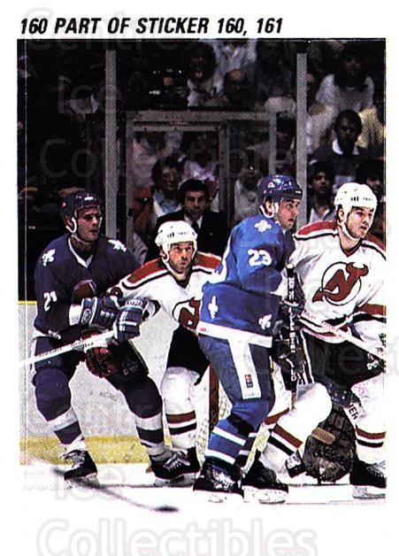 1988-89 O-pee-chee Stickers #160-0 Quebec Nordiques, New Jersey Devils<br/>8 In Stock - $2.00 each - <a href=https://centericecollectibles.foxycart.com/cart?name=1988-89%20O-pee-chee%20Stickers%20%23160-0%20Quebec%20Nordique...&quantity_max=8&price=$2.00&code=248646 class=foxycart> Buy it now! </a>