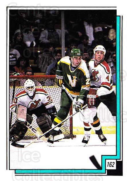 1988-89 O-pee-chee Stickers #162-0 Minnesota North Stars, New Jersey Devils<br/>7 In Stock - $2.00 each - <a href=https://centericecollectibles.foxycart.com/cart?name=1988-89%20O-pee-chee%20Stickers%20%23162-0%20Minnesota%20North...&quantity_max=7&price=$2.00&code=248648 class=foxycart> Buy it now! </a>