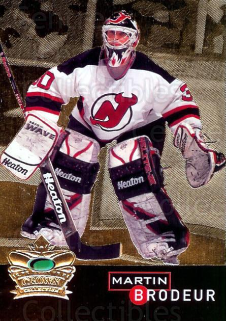 1995-96 Parkhurst Crown Collection Gold Series 1 #11 Martin Brodeur<br/>4 In Stock - $5.00 each - <a href=https://centericecollectibles.foxycart.com/cart?name=1995-96%20Parkhurst%20Crown%20Collection%20Gold%20Series%201%20%2311%20Martin%20Brodeur...&price=$5.00&code=249123 class=foxycart> Buy it now! </a>