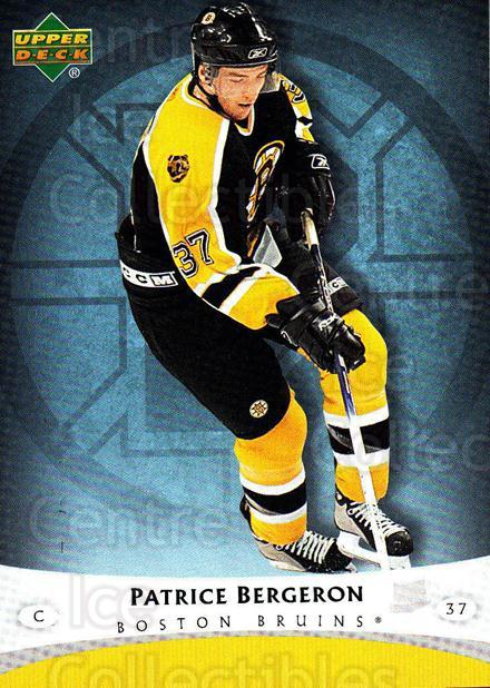 2005-06 Boston Bruins The Boston Globe #2 Patrice Bergeron<br/>4 In Stock - $3.00 each - <a href=https://centericecollectibles.foxycart.com/cart?name=2005-06%20Boston%20Bruins%20The%20Boston%20Globe%20%232%20Patrice%20Bergero...&quantity_max=4&price=$3.00&code=250404 class=foxycart> Buy it now! </a>