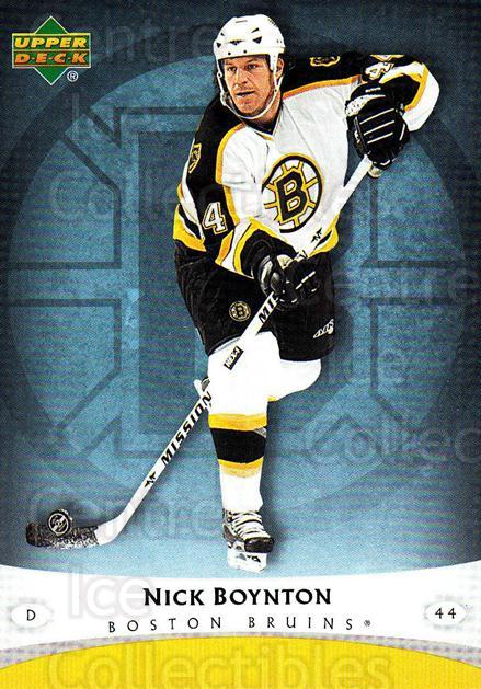 2005-06 Boston Bruins The Boston Globe #7 Nick Boynton<br/>6 In Stock - $3.00 each - <a href=https://centericecollectibles.foxycart.com/cart?name=2005-06%20Boston%20Bruins%20The%20Boston%20Globe%20%237%20Nick%20Boynton...&quantity_max=6&price=$3.00&code=250409 class=foxycart> Buy it now! </a>