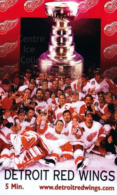 1996 Detroit Red Wings Phone Cards #5 Detroit Red Wings, Stanley Cup, Team Photo<br/>13 In Stock - $5.00 each - <a href=https://centericecollectibles.foxycart.com/cart?name=1996%20Detroit%20Red%20Wings%20Phone%20Cards%20%235%20Detroit%20Red%20Win...&price=$5.00&code=250431 class=foxycart> Buy it now! </a>