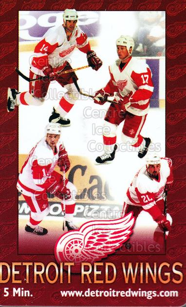 1996 Detroit Red Wings Phone Cards #6 Brendan Shanahan, Steve Yzerman, Doug Brown, Martin Lapointe<br/>8 In Stock - $5.00 each - <a href=https://centericecollectibles.foxycart.com/cart?name=1996%20Detroit%20Red%20Wings%20Phone%20Cards%20%236%20Brendan%20Shanaha...&quantity_max=8&price=$5.00&code=250432 class=foxycart> Buy it now! </a>
