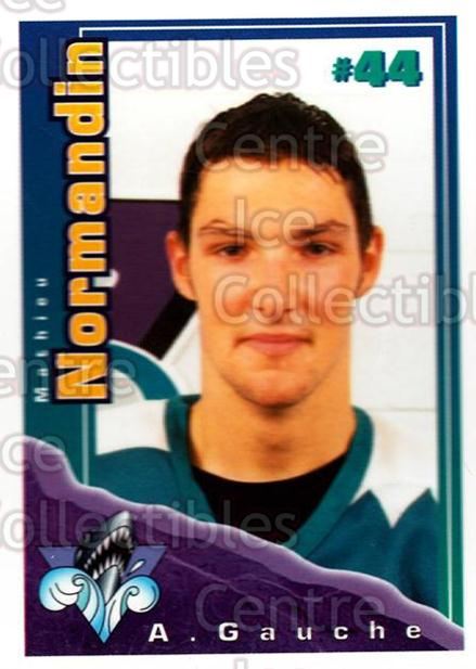 1996-97 Rimouski Oceanic Police #19 Mathieu Normandin<br/>2 In Stock - $3.00 each - <a href=https://centericecollectibles.foxycart.com/cart?name=1996-97%20Rimouski%20Oceanic%20Police%20%2319%20Mathieu%20Normand...&quantity_max=2&price=$3.00&code=250451 class=foxycart> Buy it now! </a>