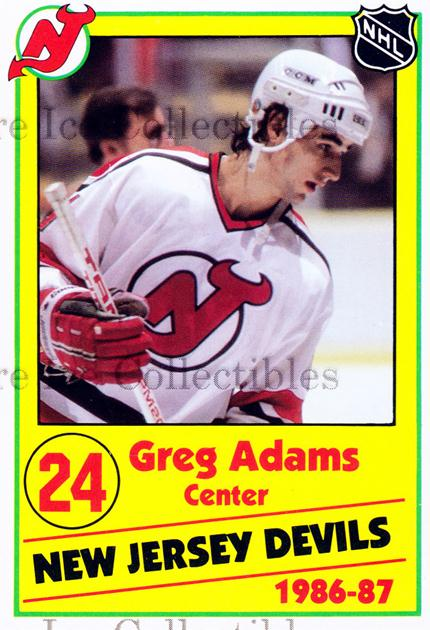 1986-87 New Jersey Devils Police #1 Greg Adams<br/>7 In Stock - $3.00 each - <a href=https://centericecollectibles.foxycart.com/cart?name=1986-87%20New%20Jersey%20Devils%20Police%20%231%20Greg%20Adams...&quantity_max=7&price=$3.00&code=25048 class=foxycart> Buy it now! </a>