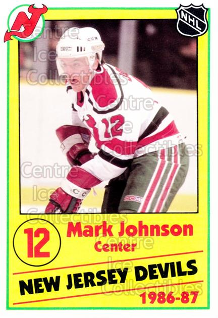 1986-87 New Jersey Devils Police #12 Mark Johnson<br/>1 In Stock - $3.00 each - <a href=https://centericecollectibles.foxycart.com/cart?name=1986-87%20New%20Jersey%20Devils%20Police%20%2312%20Mark%20Johnson...&quantity_max=1&price=$3.00&code=25051 class=foxycart> Buy it now! </a>