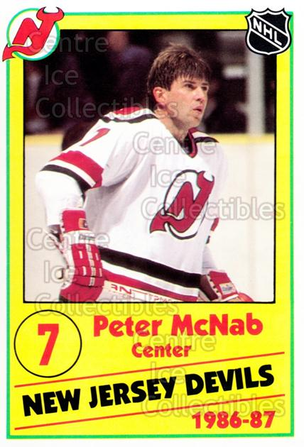 1986-87 New Jersey Devils Police #15 Peter McNab<br/>4 In Stock - $3.00 each - <a href=https://centericecollectibles.foxycart.com/cart?name=1986-87%20New%20Jersey%20Devils%20Police%20%2315%20Peter%20McNab...&quantity_max=4&price=$3.00&code=25053 class=foxycart> Buy it now! </a>