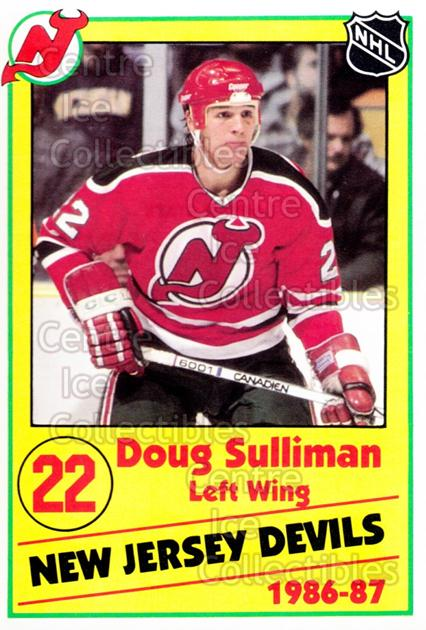 1986-87 New Jersey Devils Police #17 Doug Sulliman<br/>9 In Stock - $3.00 each - <a href=https://centericecollectibles.foxycart.com/cart?name=1986-87%20New%20Jersey%20Devils%20Police%20%2317%20Doug%20Sulliman...&quantity_max=9&price=$3.00&code=25055 class=foxycart> Buy it now! </a>