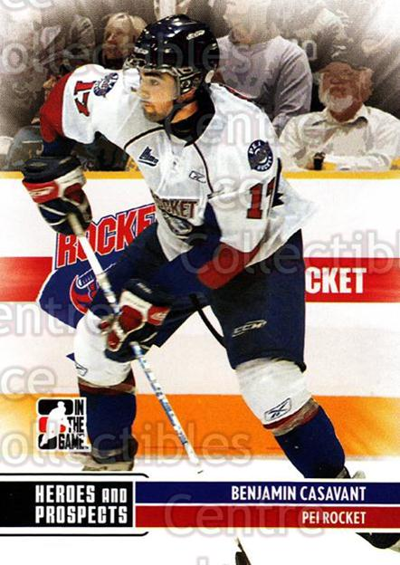 2009-10 ITG Heroes and Prospects #104 Benjamin Casavant<br/>21 In Stock - $1.00 each - <a href=https://centericecollectibles.foxycart.com/cart?name=2009-10%20ITG%20Heroes%20and%20Prospects%20%23104%20Benjamin%20Casava...&price=$1.00&code=250688 class=foxycart> Buy it now! </a>
