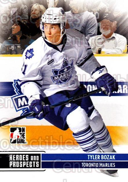 2009-10 ITG Heroes and Prospects #157 Tyler Bozak<br/>41 In Stock - $1.00 each - <a href=https://centericecollectibles.foxycart.com/cart?name=2009-10%20ITG%20Heroes%20and%20Prospects%20%23157%20Tyler%20Bozak...&price=$1.00&code=250741 class=foxycart> Buy it now! </a>