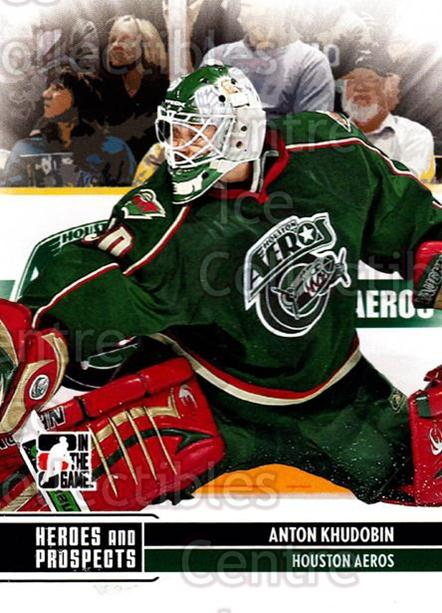 2009-10 ITG Heroes and Prospects #158 Anton Khudobin<br/>42 In Stock - $1.00 each - <a href=https://centericecollectibles.foxycart.com/cart?name=2009-10%20ITG%20Heroes%20and%20Prospects%20%23158%20Anton%20Khudobin...&price=$1.00&code=250742 class=foxycart> Buy it now! </a>