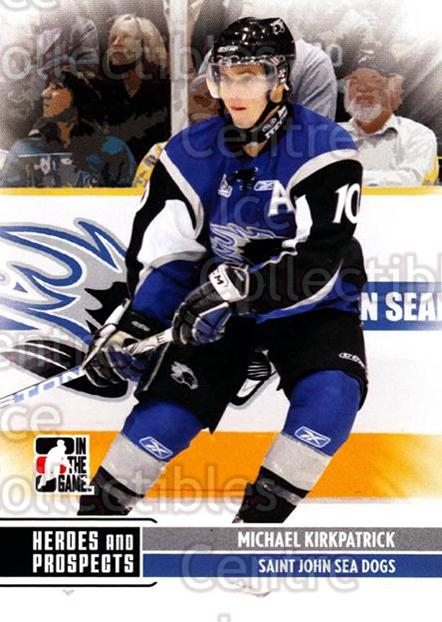 2009-10 ITG Heroes and Prospects #186 Michael Kirkpatrick<br/>31 In Stock - $1.00 each - <a href=https://centericecollectibles.foxycart.com/cart?name=2009-10%20ITG%20Heroes%20and%20Prospects%20%23186%20Michael%20Kirkpat...&price=$1.00&code=250770 class=foxycart> Buy it now! </a>