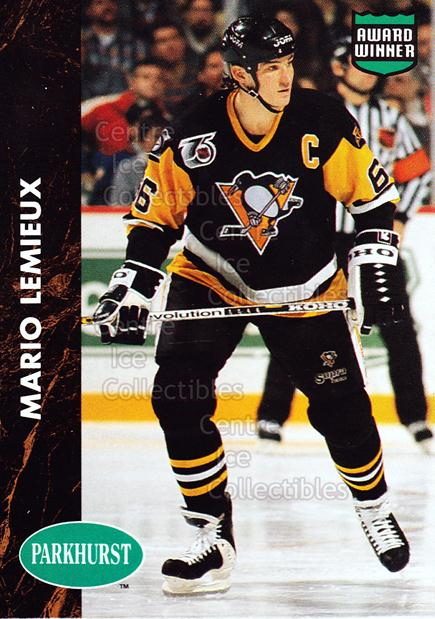 1991-92 Parkhurst PHC #7 Mario Lemieux<br/>1 In Stock - $3.00 each - <a href=https://centericecollectibles.foxycart.com/cart?name=1991-92%20Parkhurst%20PHC%20%237%20Mario%20Lemieux...&price=$3.00&code=250819 class=foxycart> Buy it now! </a>