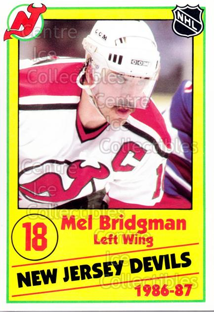1986-87 New Jersey Devils Police #5 Mel Bridgman<br/>8 In Stock - $3.00 each - <a href=https://centericecollectibles.foxycart.com/cart?name=1986-87%20New%20Jersey%20Devils%20Police%20%235%20Mel%20Bridgman...&quantity_max=8&price=$3.00&code=25099 class=foxycart> Buy it now! </a>