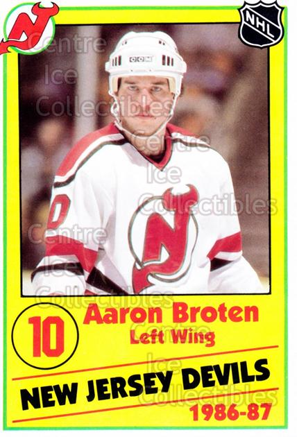 1986-87 New Jersey Devils Police #6 Aaron Broten<br/>9 In Stock - $3.00 each - <a href=https://centericecollectibles.foxycart.com/cart?name=1986-87%20New%20Jersey%20Devils%20Police%20%236%20Aaron%20Broten...&quantity_max=9&price=$3.00&code=25100 class=foxycart> Buy it now! </a>