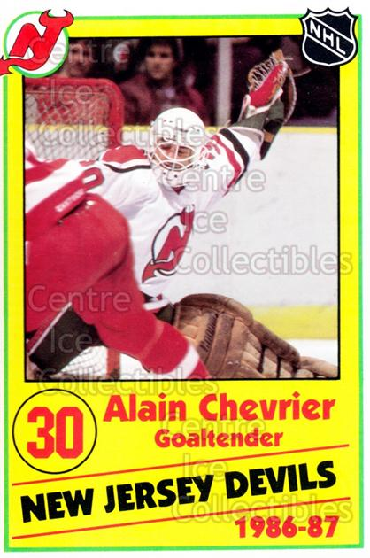 1986-87 New Jersey Devils Police #7 Alain Chevrier<br/>1 In Stock - $3.00 each - <a href=https://centericecollectibles.foxycart.com/cart?name=1986-87%20New%20Jersey%20Devils%20Police%20%237%20Alain%20Chevrier...&quantity_max=1&price=$3.00&code=25101 class=foxycart> Buy it now! </a>