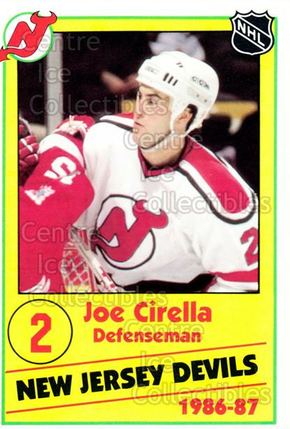 1986-87 New Jersey Devils Police #8 Joe Cirella<br/>7 In Stock - $3.00 each - <a href=https://centericecollectibles.foxycart.com/cart?name=1986-87%20New%20Jersey%20Devils%20Police%20%238%20Joe%20Cirella...&quantity_max=7&price=$3.00&code=25102 class=foxycart> Buy it now! </a>