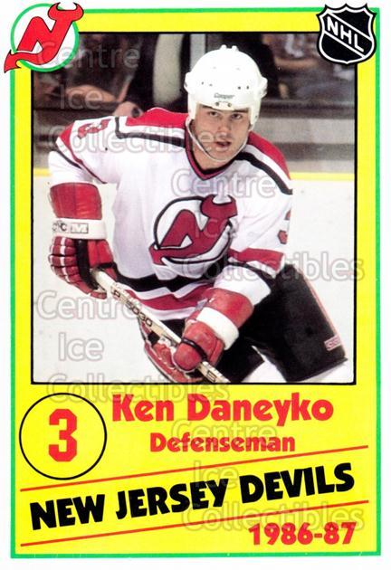 1986-87 New Jersey Devils Police #9 Ken Daneyko<br/>2 In Stock - $3.00 each - <a href=https://centericecollectibles.foxycart.com/cart?name=1986-87%20New%20Jersey%20Devils%20Police%20%239%20Ken%20Daneyko...&quantity_max=2&price=$3.00&code=25103 class=foxycart> Buy it now! </a>
