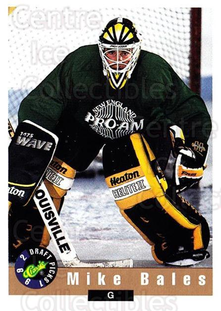 1992 Classic Hockey Draft #73 Mike Bales<br/>1 In Stock - $1.00 each - <a href=https://centericecollectibles.foxycart.com/cart?name=1992%20Classic%20Hockey%20Draft%20%2373%20Mike%20Bales...&quantity_max=1&price=$1.00&code=251109 class=foxycart> Buy it now! </a>