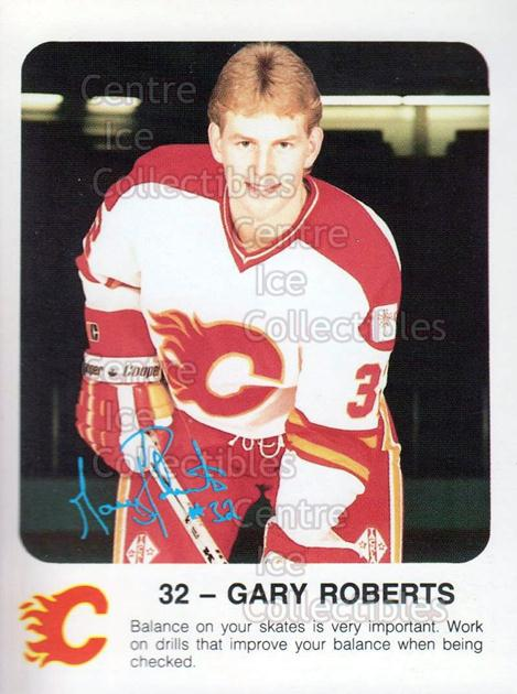 1986-87 Calgary Flames Red Rooster #25 Gary Roberts<br/>8 In Stock - $3.00 each - <a href=https://centericecollectibles.foxycart.com/cart?name=1986-87%20Calgary%20Flames%20Red%20Rooster%20%2325%20Gary%20Roberts...&quantity_max=8&price=$3.00&code=25120 class=foxycart> Buy it now! </a>