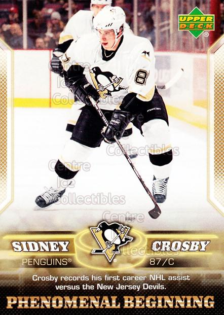 2005-06 UD Sidney Crosby Phenomenal Beginning Gold #3 Sidney Crosby<br/>1 In Stock - $2.00 each - <a href=https://centericecollectibles.foxycart.com/cart?name=2005-06%20UD%20Sidney%20Crosby%20Phenomenal%20Beginning%20Gold%20%233%20Sidney%20Crosby...&price=$2.00&code=251212 class=foxycart> Buy it now! </a>