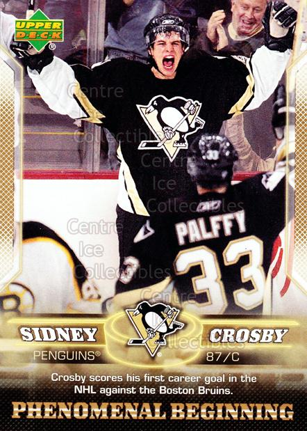 2005-06 UD Sidney Crosby Phenomenal Beginning Gold #4 Sidney Crosby<br/>1 In Stock - $3.00 each - <a href=https://centericecollectibles.foxycart.com/cart?name=2005-06%20UD%20Sidney%20Crosby%20Phenomenal%20Beginning%20Gold%20%234%20Sidney%20Crosby...&quantity_max=1&price=$3.00&code=251213 class=foxycart> Buy it now! </a>