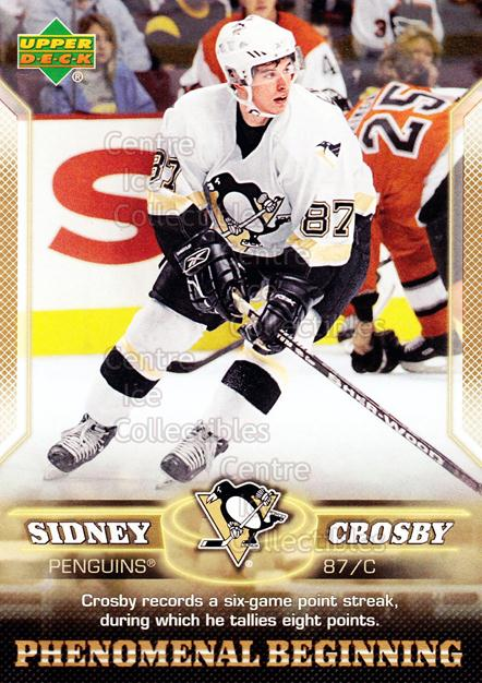 2005-06 UD Sidney Crosby Phenomenal Beginning Gold #5 Sidney Crosby<br/>3 In Stock - $3.00 each - <a href=https://centericecollectibles.foxycart.com/cart?name=2005-06%20UD%20Sidney%20Crosby%20Phenomenal%20Beginning%20Gold%20%235%20Sidney%20Crosby...&quantity_max=3&price=$3.00&code=251214 class=foxycart> Buy it now! </a>