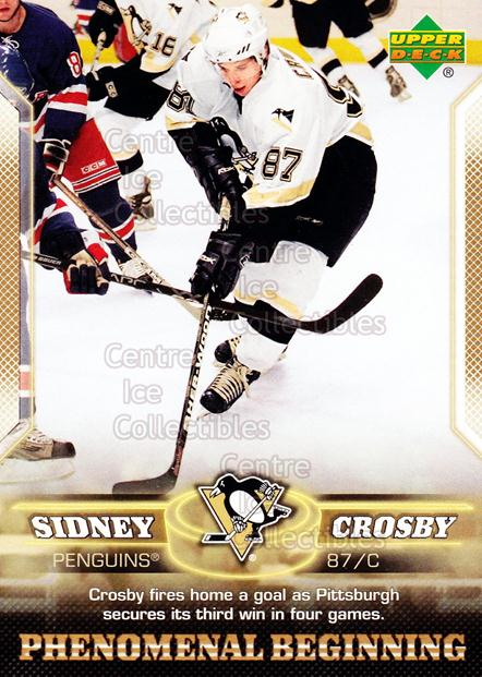 2005-06 UD Sidney Crosby Phenomenal Beginning Gold #8 Sidney Crosby<br/>1 In Stock - $3.00 each - <a href=https://centericecollectibles.foxycart.com/cart?name=2005-06%20UD%20Sidney%20Crosby%20Phenomenal%20Beginning%20Gold%20%238%20Sidney%20Crosby...&quantity_max=1&price=$3.00&code=251217 class=foxycart> Buy it now! </a>