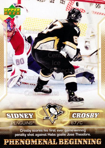 2005-06 UD Sidney Crosby Phenomenal Beginning Gold #9 Sidney Crosby<br/>1 In Stock - $3.00 each - <a href=https://centericecollectibles.foxycart.com/cart?name=2005-06%20UD%20Sidney%20Crosby%20Phenomenal%20Beginning%20Gold%20%239%20Sidney%20Crosby...&quantity_max=1&price=$3.00&code=251218 class=foxycart> Buy it now! </a>